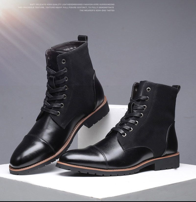 38-48 Winter Boots Men Fashion Comfortable Warm 2019 Brand Men Shoes #SY755