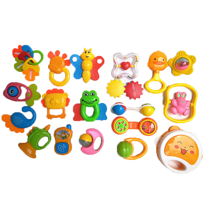 NEW Baby Silicone Cartoon Animal Teethers Rattles Training Toys Children Kids Safety For Infant Teething Newborn Random 1PC