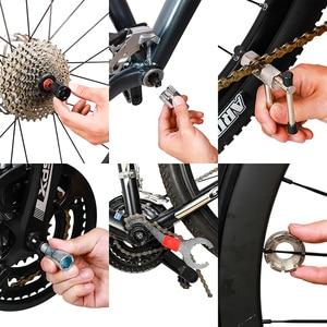 Image 5 - Multifunktionale Fahrrad Reparatur Werkzeug Kits Kette Breaker Schwungrad Remover Kurbel Puller Schlüssel MTB Rennräder Wartung Werkzeuge