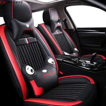 Car believe leather car seat cover For opel zafira tourer astra k insignia 2014 meriva b vectra c mokka accessories seat covers фото