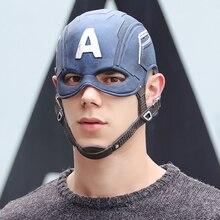 Film Captain America 3 Burgeroorlog Captain America Masker Cosplay Steven Rogers Superhero Latex Helm Halloween Voor Mannen Party Prop