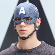 Movie Captain America 3 Civil War Captain America Mask Cosplay Steven Rogers Superhero Latex Helmet Halloween For Men Party Prop