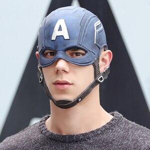 Image 1 - Movie Captain America 3 Civil War Captain America Mask Cosplay Steven Rogers Superhero Latex Helmet Halloween For Men Party Prop