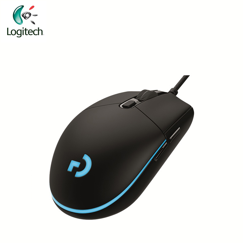 Logitech G Pro Gamer Gaming <font><b>Mouse</b></font> <font><b>12000dpi</b></font> RGB Wired <font><b>Mouse</b></font> Official Genuine USB Gaming <font><b>Mice</b></font> for Windows 10/8/7 image