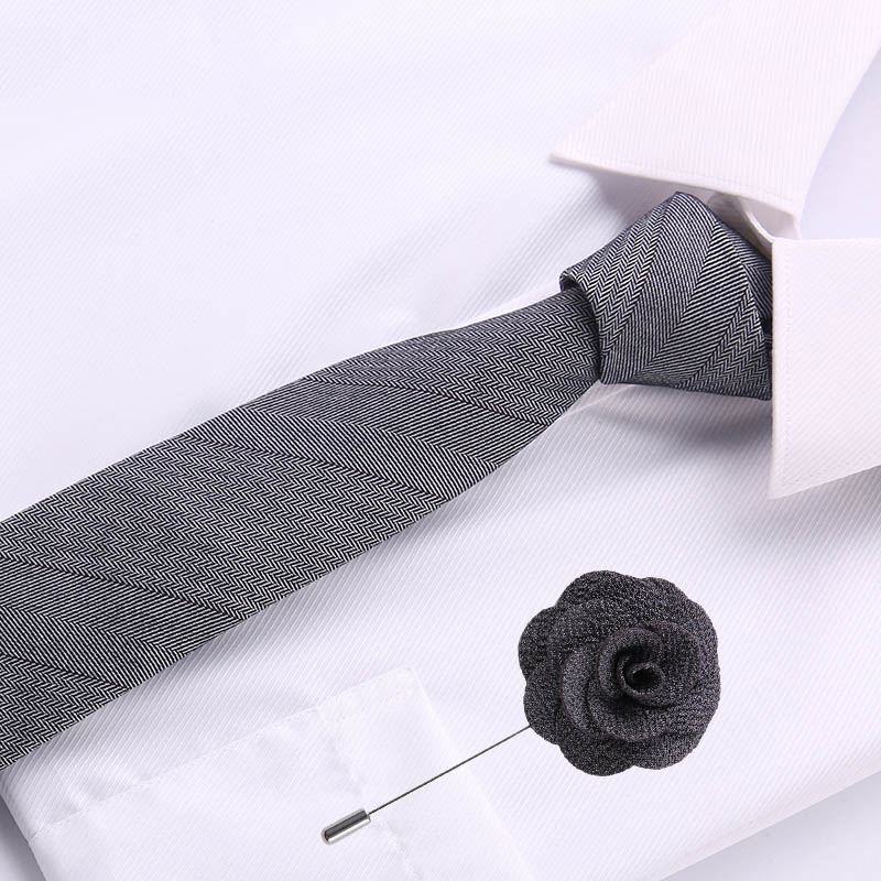 Luxury Paisley Plaid Mens Neckties Neckwear 6.5cm Cotton Skinny Tie Formal Wear Business Suit Tie Stripe Slim Necktie