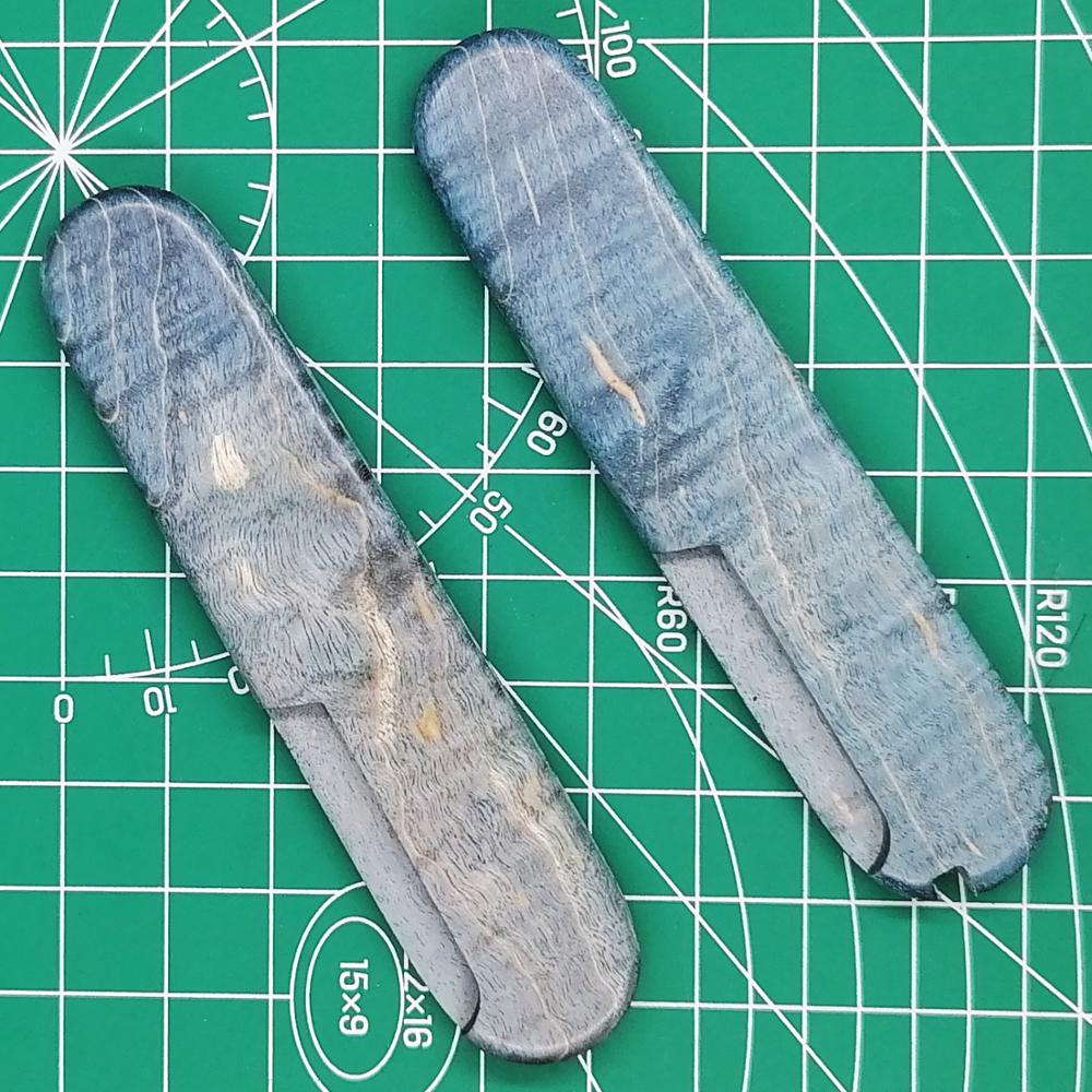 Tools : 1 Pair DIY Maple Wood Handle Scale Stabilized Wood Handle for 91mm Victorinox Swiss Army Knife EDC Mod