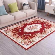Bohemio Chic Vintage alfombra dormitorio sala de estar decorativo gran alfombra de suelo personalizado flor puerta de entrada alfombra tela antideslizante