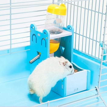 Small Pet Water Bottle Holder Hamster Rabbit Food Feeder Dispenser Nest Toy Drinking Water Distributor For Hamster Rabbit