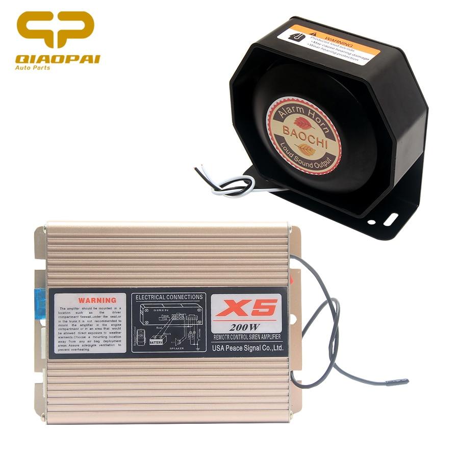 12V 200W клаксон сирена Megafone 18 звук автомобиля тональный сигнал тревоги колонки усиленный Беспроводной сигналы для специального сирена полици