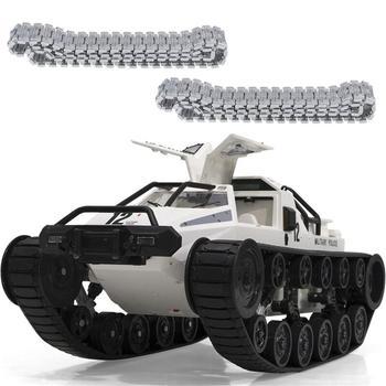 цена на 1203 World of RC Tank Car 2.4G 1:12 High Speed Full Control Vehicle Models 5M Wading Depth With Gull-wing Door Metal Crawler