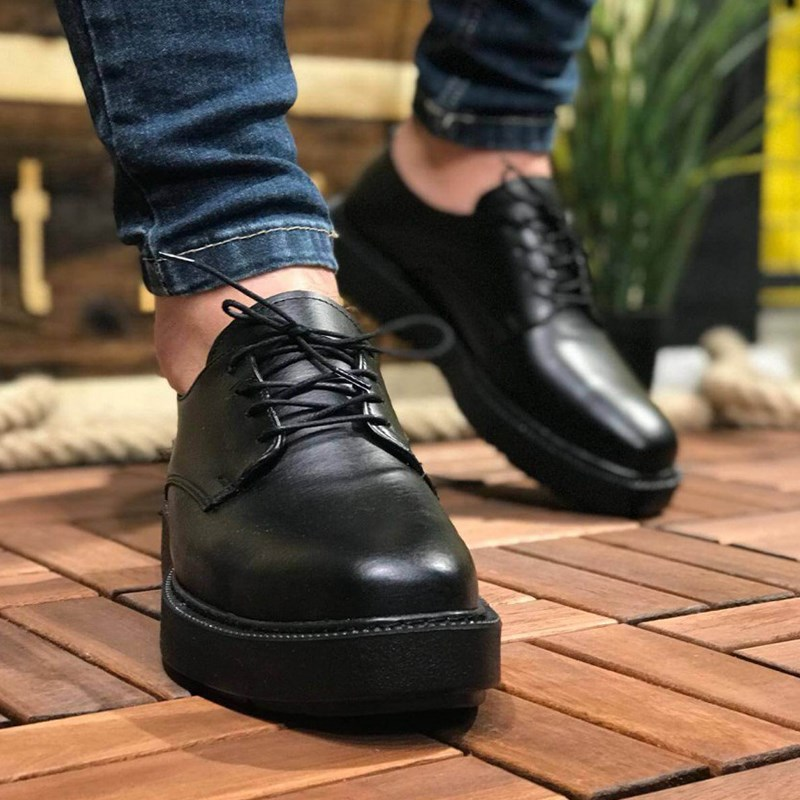 Chekich CH001 Fns St Male To Male Black Shoes Corded Fashion Style Daily Flexible Formal Classic Leather Sneakers кеды Spring 2020