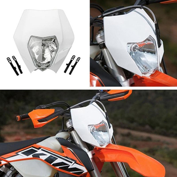 1set Universal Headlight Head Lamp Light Streetfighter For EXC XCF XCW SXF KTM Dirt Bike Motorcycle 12V image