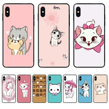 Tpu Black Soft Shell Phone Case The Cartoon AristoCats Marie Cats Les Meilleurs For Redmi Note 4 5 5A 6 7 8 8T 9 9S Pro Max image