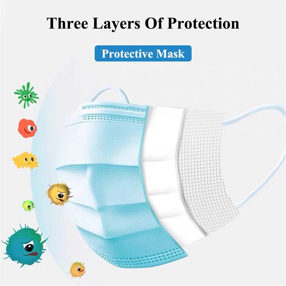Filter Kf80 3m Mondmaskers Fpp3 Anime Masker Mulut Cubre Bocas Dust Kf94 Mask 100pcs Pollution  Na Usta Facial Maschera Filter