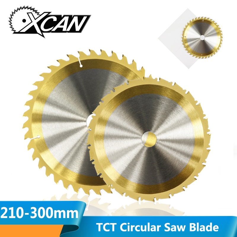 XCAN 1pc 210/250mm 24/40/80 Teeth Wood Cutting Disc TiN Coating Carbide TCT Saw Blade Woodworking Circular Saw Blade