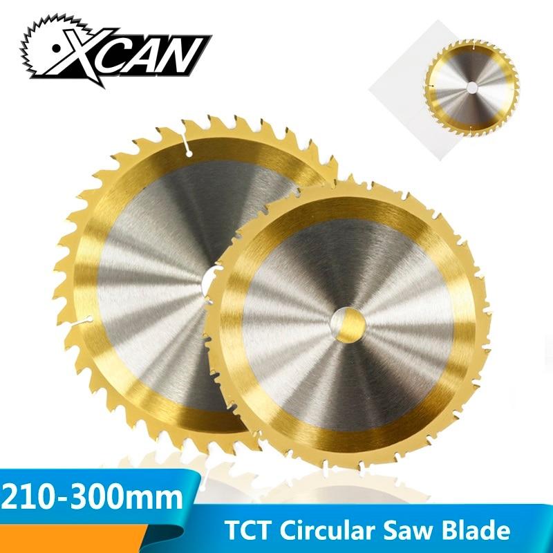 XCAN 1pc 210/250mm 24/40/80 Teeth Wood Cutting Disc TiN Coating Carbide TCT Saw Blade Woodworking Circular Saw Blade