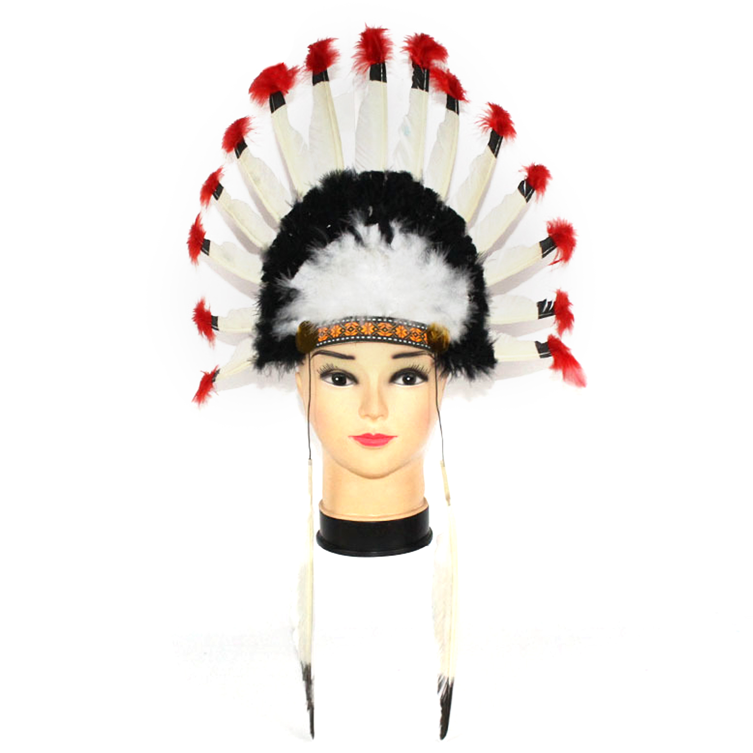 Indian Style Feather Headband Headpiece Headdress Toy For Kids Adults Thanksgiving Masquerade Cosplay Party Costume