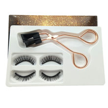 2 Pairs Mink Magnetic Eyelashes 25mm Thick Natural 3D False Strip Eyelashes Tweezer Set Long Lasting Eyelash Makeup Tools(China)