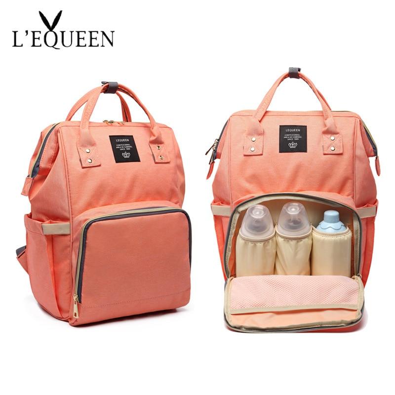 Diaper Bag Upgraded Fashion Mummy Backpack Diaper Bag Backpack Multi-Function Large Capacity Mother's Bag Diaper Bag  Women Bag