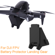 Battery Protector Cover for Dji Fpv Landing Gear Accessories  Height Extender Soft Rubber Protector 2 In 1 Bracket Landing Gear