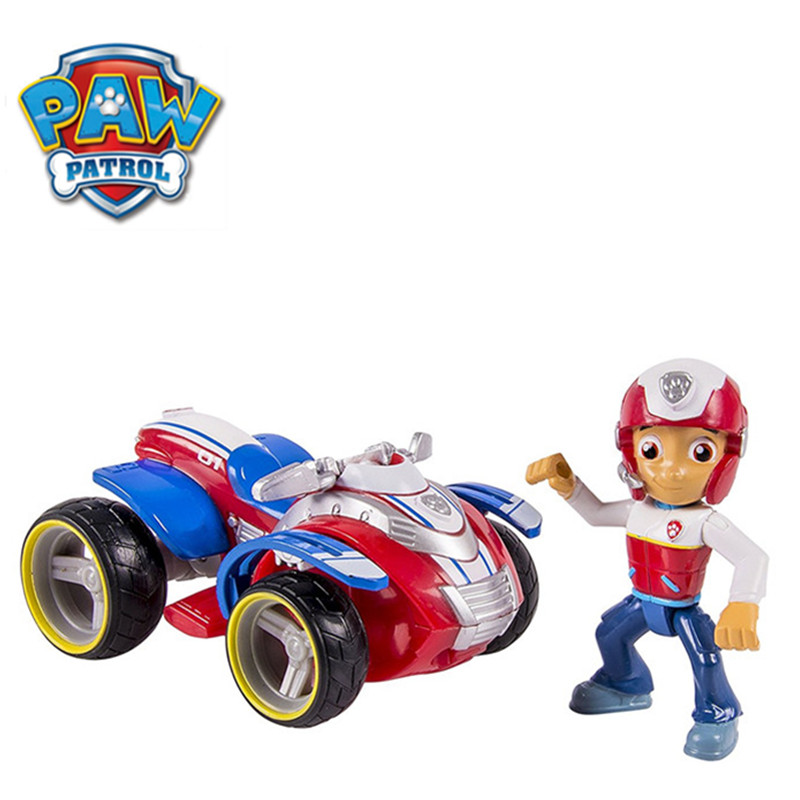 Original Paw Patrol Dog Nickelodeon Patrulla Canina Rescue Racers Vehicle Ryder Anime Action Figure Doll Kids Toys Gift