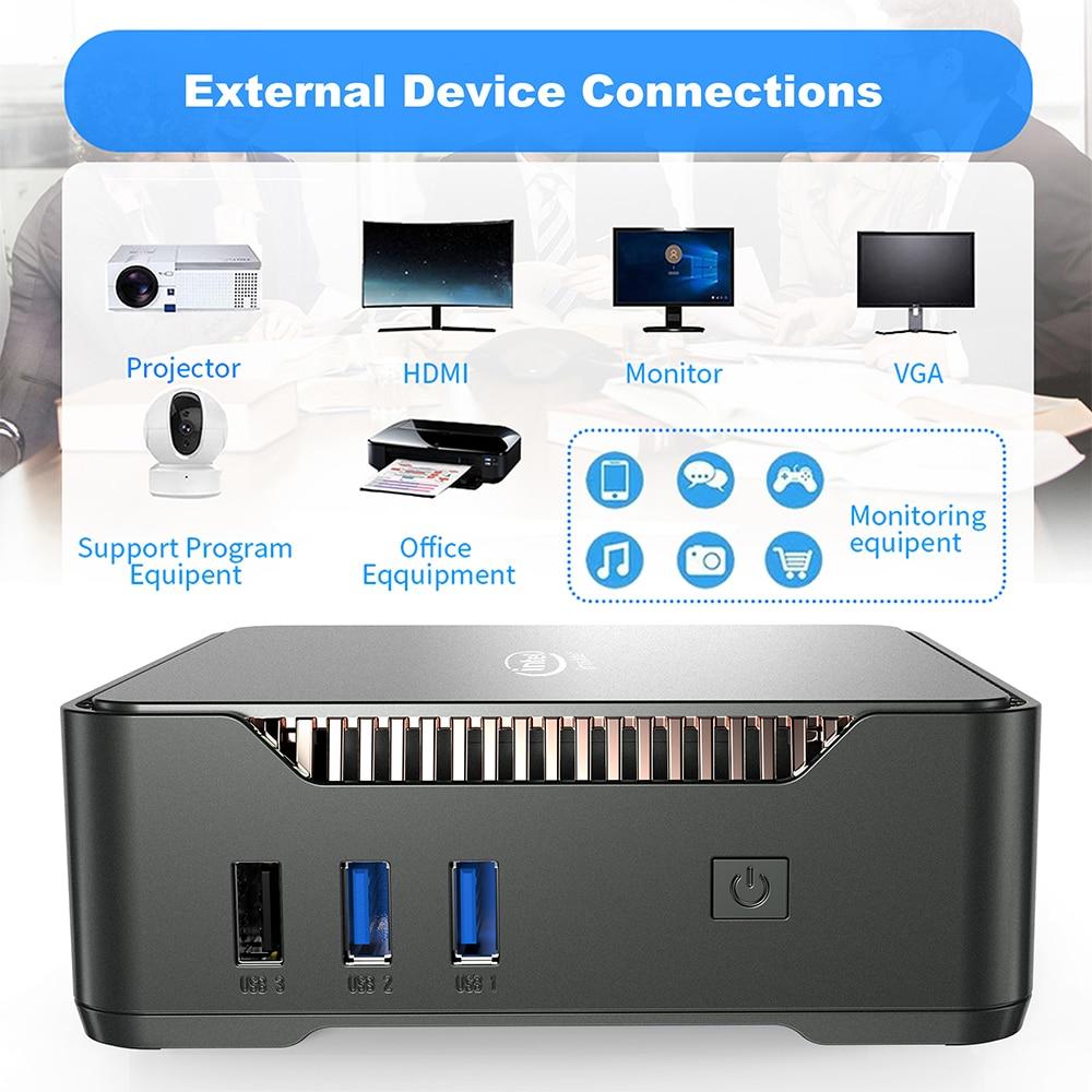 GK3V Windows 10 Mini PC Intel Gemini Lake J4125 8GB DDR4 128GB 256GB 512GB 1TB SSD Gaming PC 2.4G 5G WiFi 1000M Mini Computer 6