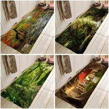 Landscape Tree Carpe Secenic Doormat psychedelic Kitchen Rugs for Bedroom Living Room Bathroom Anti-Slip Floor Mats