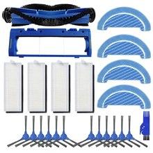 Substituição hepa filtro principal rolo escova mop pano escovas laterais para conga 1090 robô aspirador de pó peças acessórios
