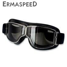 Bezpieczeństwo wiatroszczelne gogle na motocykl Retro Motocross gogle ochrona oczu jazda na rowerze Outdoor motor terenowy Vintage okulary przeciwsłoneczne