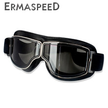 Motocross Goggles Helmet Pilot Scooter Retro Moto Outdoor Dirt Bike Riding Sunglasses Retro Motorcycle Glasses Vintage Off-Road(China)