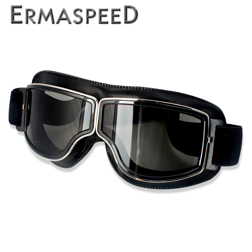 Motocross Goggles Helmet Pilot Scooter Retro Moto Outdoor Dirt Bike Riding Sunglasses Retro Motorcycle Glasses Vintage Off-Road