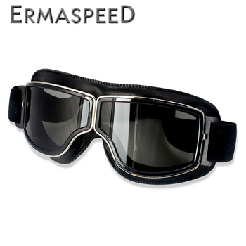 Safety Windproof Motorcycle Glasses Retro Motocross Goggles Eye Protection Cycling Outdoor Dirt Bike Riding Vintage Sunglasses