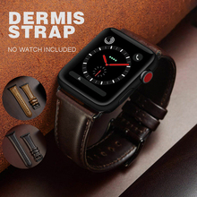 Pohiks Genuine Leather Wrist Band Strap Bracelet For iWatch Apple Watch Series 4 3 2 1 Accessories