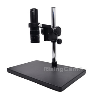 Image 4 - Zoom 0.7x 4.5x Monocular Zoom Stereo microscope 0.5X C mount industrical lens for PCB phone repair