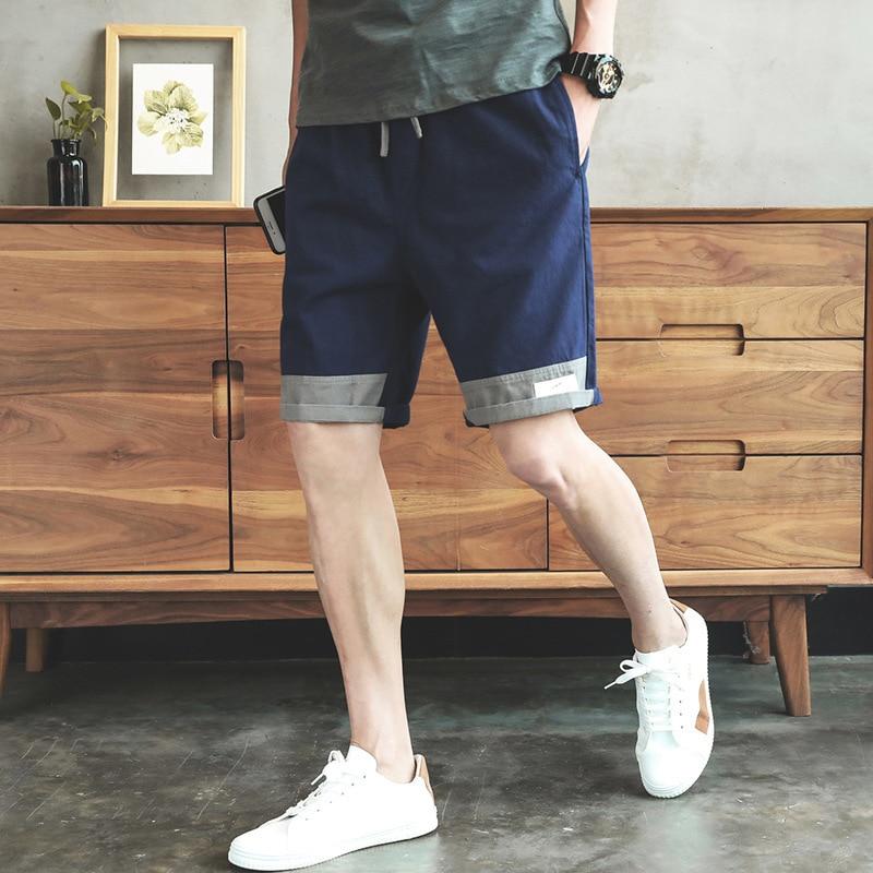 Summer Mixed Colors Workwear Casual Shorts Men's Loose-Fit Korean-style Harajuku Wind Popular Brand 5 Shorts Trend Shorts Men's