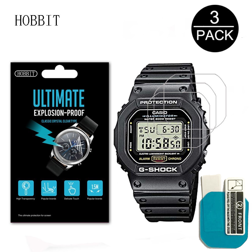 3PACK Nano Explosion-proof Screen Protector For Casio DW5600 DW5610 Sport Watch HD Clear Anti-Scratch LCD Film DW5600 DW5610