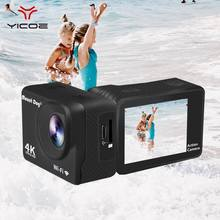 "2.0""HD Waterproof 4K Action Sports Video Camera WiFi Remote Control Camcorder DVR DV Camera Underwater Housing Case Accessories(China)"