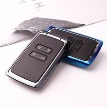 TPU Auto Chiave A Distanza Della Copertura di Caso per Renault Fluence Duster Megane Kadjar Clio Car Styling