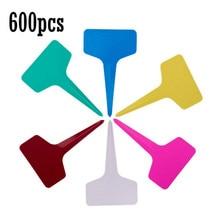 600 Pcs 5 x 7cm Plastic Plant Labels T-Type Tags Markers Nursery Garden Labels,6 Colors (7, 5) 70 5 22mm 7cm