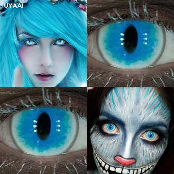 2Pcs/Pair YS Halloween Colorful Contact Lenses for Eyes Cosplay Colored Contact Lens Color Lenses Anime Lenses Yearly UYAAI 2pcs/pair eye contact lenses year use colored contact lenses for eyes colorful contact lens soft colored contact lenses uyaai