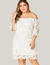 Plus Size White Off Shoulder Lace Tiered Dress summer clothes for women sexy dress 2019 elegant Party Dress  D20 one shoulder tiered dress