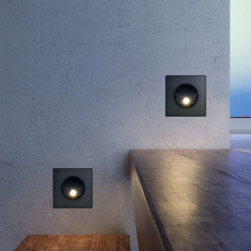 Купить скандинавские современные простые встроенный светодиодный настенный