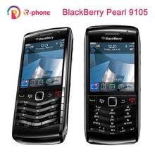 Oryginalny BlackBerry Pearl 9105 telefon komórkowy 3G GSM WiFi Smartphone Quadband odblokowany