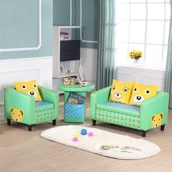 Tiempo de ocio sofá de cuero de arte para niños encantador grupo de dibujos animados cerca de bebé pequeño sofá silla dos asientos bolsa de frijoles Zitzak niños dormitorio