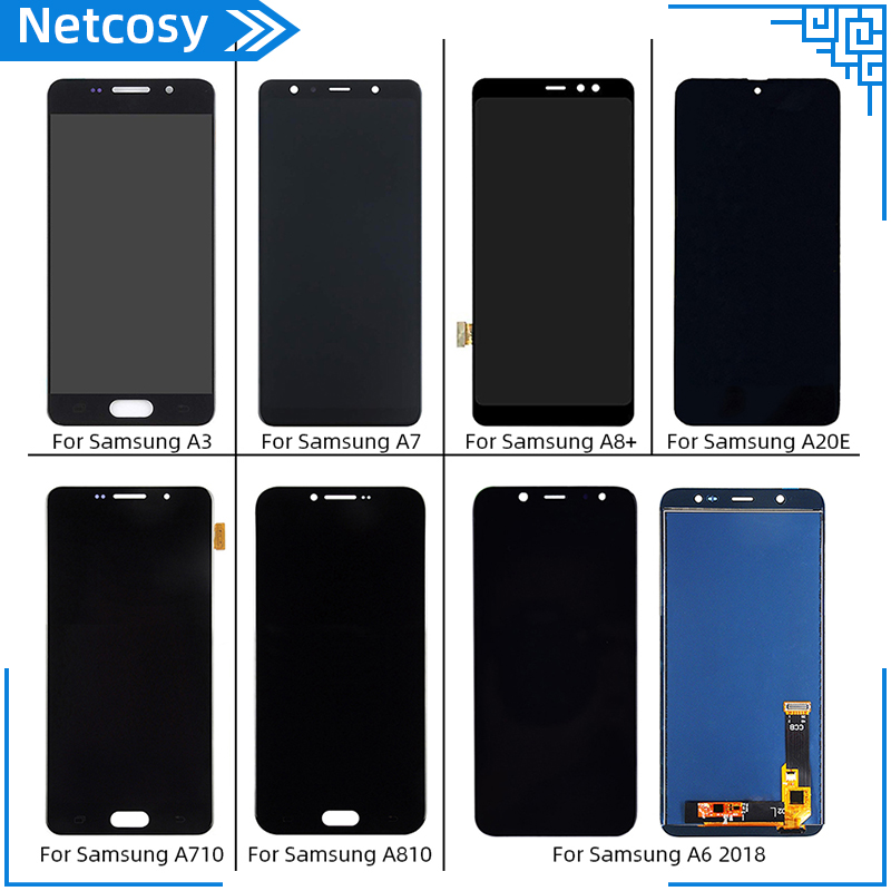 For Samsung Galaxy A3 A7 A8 Plus A20E A710 A810 A6 2018 LCD Display+Touch Screen Digitizer LCD Assembly Full screen image