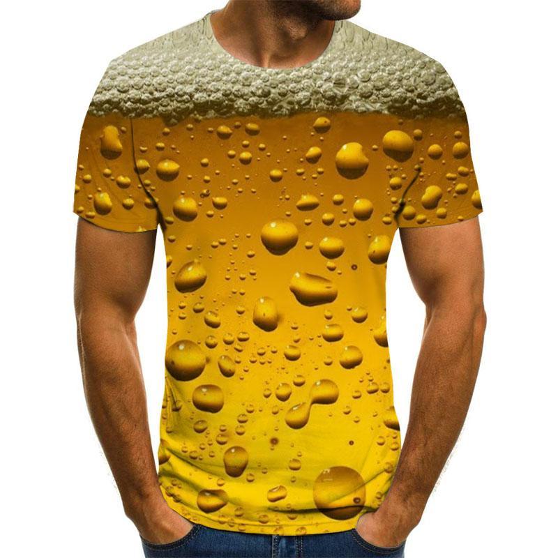 Футболка с 3D принтом пива и надписью It's Time для мужчин и женщин, забавная Необычная футболка, топы с коротким рукавом, одежда унисекс
