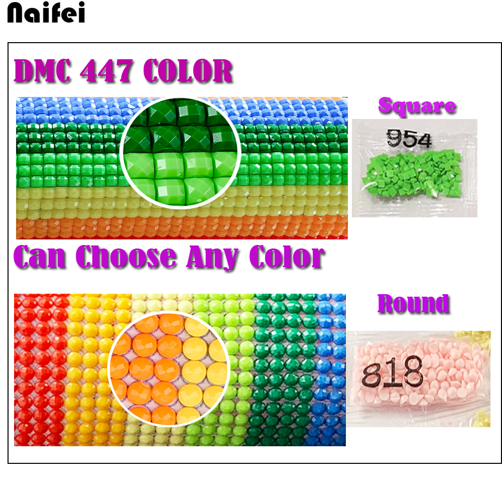 Wholesale DMC 447 Colors Round//square Drill Diamond Painting Beads Accessory