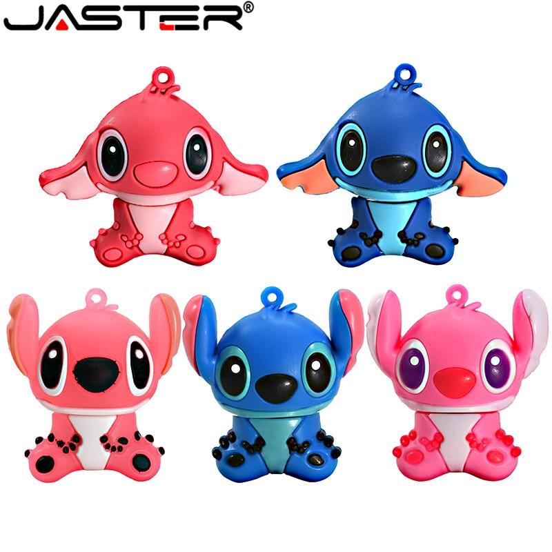 JASTER Lovely Cartoon Lilo & Stitch USB Flash Drives 64GB 32GB 16G 8G 4GB Pen Drive memory stick pendrive thumb drives gift(China)