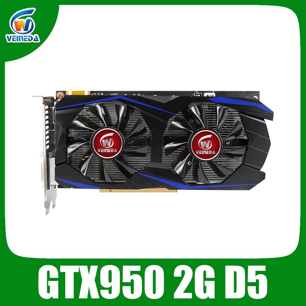 VEINEDA Graphics Card PCI-E GTX 950 2GB DDR5 128Bit Placa De Video Carte Graphique Video Card For NVIDIA Geforece Games