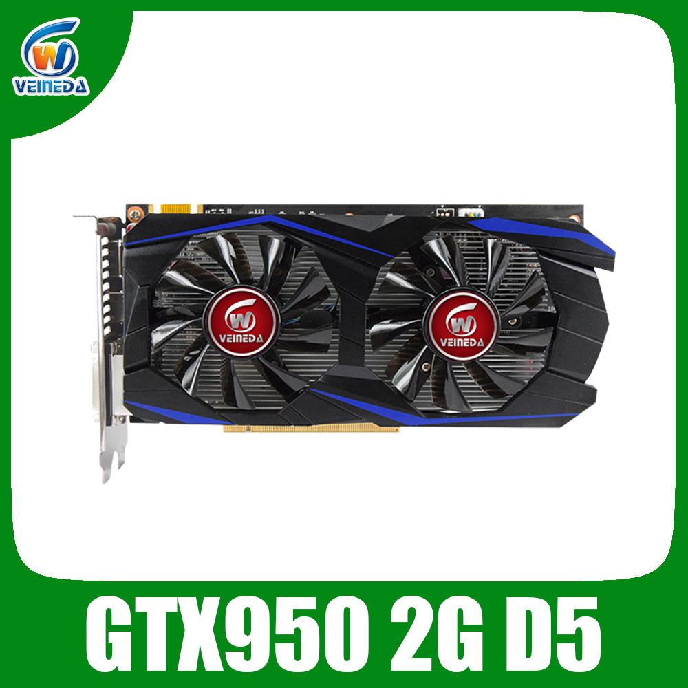 VEINEDA Graphics Card PCI-E <font><b>GTX</b></font> <font><b>950</b></font> <font><b>2GB</b></font> DDR5 128Bit <font><b>Placa</b></font> <font><b>de</b></font> <font><b>Video</b></font> carte graphique <font><b>Video</b></font> Card for nVIDIA Geforece Games image